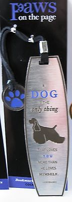 NEW Set of 3 ~ Dog Lover Metal Bookmarks ~ Cocker Spaniel ~ Paws on the Page