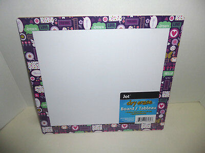 """Jot Expressions Dry Erase Board-11.8"""" x 10.6""""-Brand New!!"""