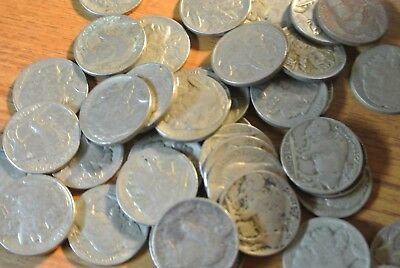 Full Date Indian Head Buffalo Nickel   Mixed Date Roll 40 FREE INDIAN HEAD CENT!