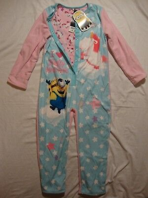 Minions all-in-one reversible pyjamas for a girl age 4-5 BNWT