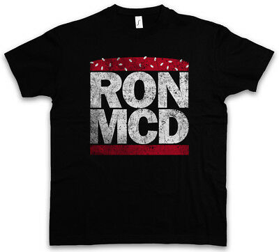 RON MCD T-SHIRT Ronald Fun McDonald McDonald's Whopper Big Burger Mac Hamburger