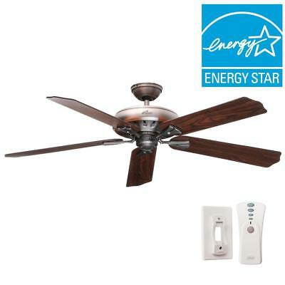 Hunter Model 54017 Royal Oak 60 in. Indoor Antique Pewter Ceiling Fan