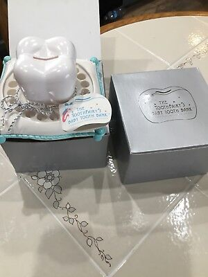 The Tooth Fairy's Baby Tooth Bank Keepsake Blue New With Tags And Box