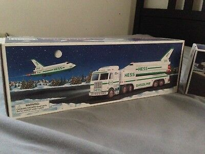 Hess 1999 Toy Truck and Space Shuttle with Satellite