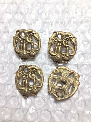 4 Beautiful pierced Lily of the Valley BUTTONs 1""