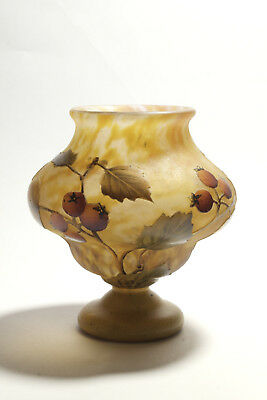 Daum Nancy Vase - Art Nouveau verre Jugendstil Glas glass
