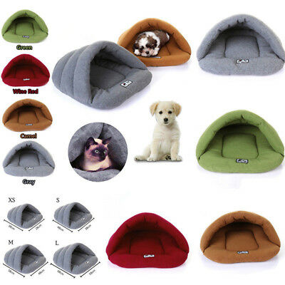 Pet Cat Dog Nest Bed Puppy Soft Warm Cave House Sleeping Bag Sofa Mat Pad XS-L