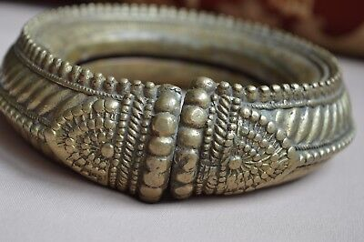 Slave / Dowry Anklet / Bracelet 19th Century Heavy Antique brass African
