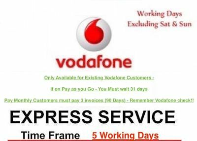 IPhone 6S 6 5S 5C 5 SE 4S 4 Factory Unlock CODE Service VODAFONE UK