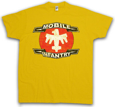 MOBILE INFANTRY LOGO T-SHIRT Starship Army Squad Troopers Symbol Sign Logo