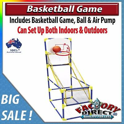 NEW! Indoor & Outdoor Basketball Game Kids Adults Fun Air Pump Ball Ring Hoops!