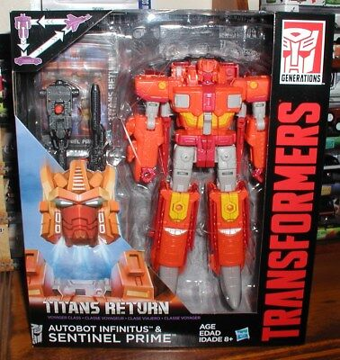 Transformers Titans Return Sentinel Prime/autobot Infinitus,voyager Class New