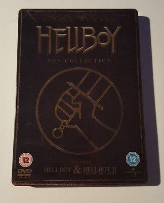 Hellboy 1 2 The Collection Dvd Box Set Steelbook Edition Horror Movie Film Xmas