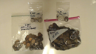 Canada  28.20  Face  Misc.  Coins.........#134.....99  Cent  Start..no Reserve