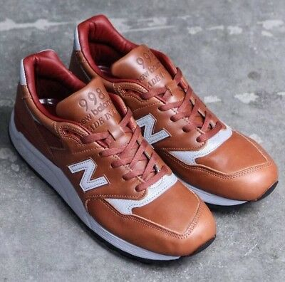 on sale 6ec8c 3a00f $340 NEW BALANCE M998BESP Bespoke Horween Sz 5 Leather 998 USA 1400 997 New  Rare
