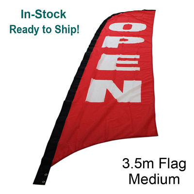 3.5m OPEN Flag  Replacement / Outdoor Advertising Banner Flag(Excl. Pole & Base)
