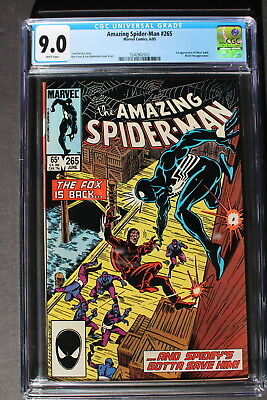 AMAZING SPIDER-MAN #265 1st SILVER SABLE 1985 1st Print B.Cat MOVIE CGC VFNM 9.0