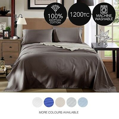 1200TC 100% Egyptian cotton 4PC luxury soft breathable sheet sets, free delivery
