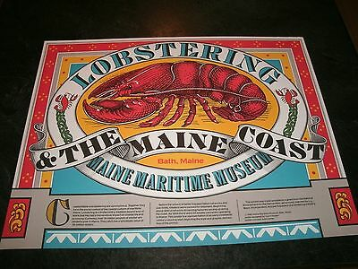 """NOS 19.5 x 25"""" Heavy Stock ~ Lobstering & the Maine Coast Maine Maritime Poster"""