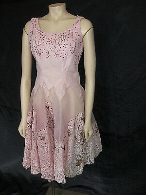 Vintage 1950s Pink Tulle & Lace Prom Dress (Restoration project)