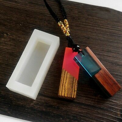 Silicone Mold DIY Resin Jewelry Pendant Charm Making Mould With Hanging Hole New