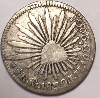 1832 Mexico  1/2  Reales Mexico City Mint Km#370.9 High Grade Coin