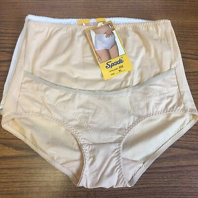 2 Pack White & Nude Maternity Women's Panties Underwear Full Coverage New! XL