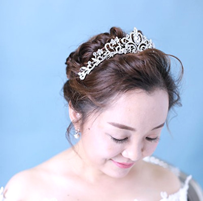 Women Bridal Princess Tiara Crown with Comb for Weddings Parties Special Occasi