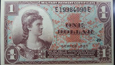 Series 521 USA $1 Military Payment Certificate Choice XF 40 EPQ PMG WOW
