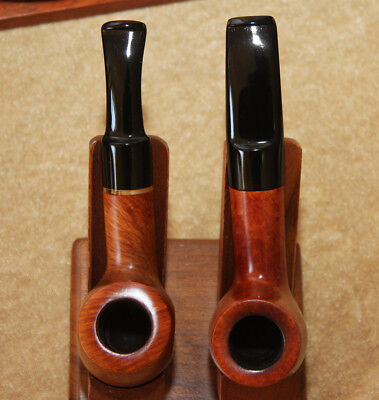 LOT of 2 PIPEX (GEORGE STEFANOU) MADE IN GREECE  *N. MINT* Estate Pipes #3