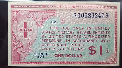 Series 471 USA $1 Military Payment Certificate Choice XF 45 PMG WOW