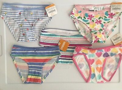 Girl's Gymboree Panties/Underwear Size 2T, 5 Pairs
