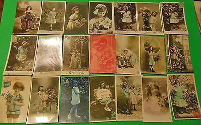 WHOLESALE Lot of 50 Original Antique French Real Photo Postcards Young Girls