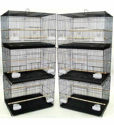 """Lot of 6 Breeding Aviary Canary Budgies Finches Flight Bird Cages 24x16x16""""H"""