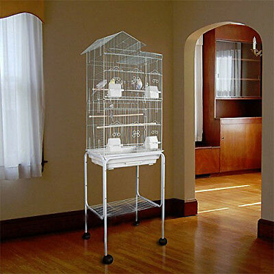 New Large Tall Canary Parakeet Cockatiel LoveBird Finch Bird Cage With Stand 972