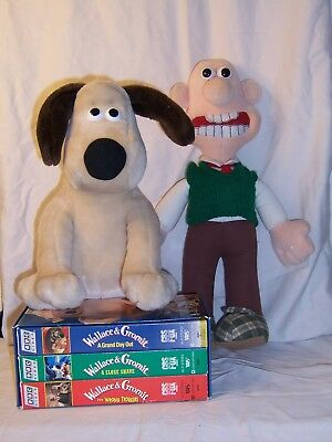 Wallace and Gromit Plush, VSH Set and Coffee Cup