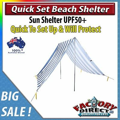 NEW! Quick Set Beach Shelter Family Friends Beach Picnic Outdoors Sun Protect!