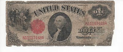 "1917 $1 Legal Tender Note ""Sawhorse"" Speelman/White FR-39 N1187448A circulated"