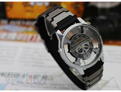 1 Pc ONE PIECE MONKEY D LUFFY Pirate Flag Wrist Watch Anime Cosplay Gift