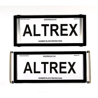 5 Figure Number Plate Covers Advanced Black without Lines Altrex 5ONLC