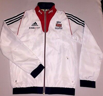 Sky Team GB Great Britain Cycling Training Jacket RIDER ISSUE Adidas NEW S 32/34