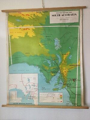 Vintage South Australian School Map