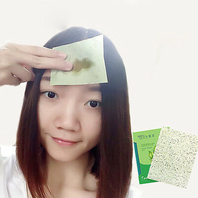 100Sheets Green Tea Scent Oil Blotting Control Absorbing Facial Face Papers Wipe