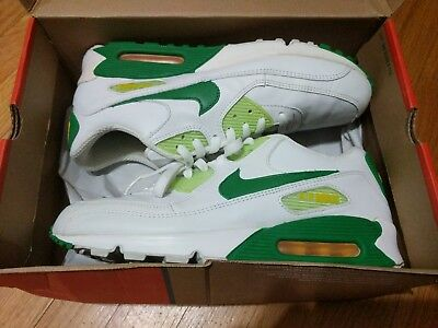 11975789466 Nike AIR MAX 90 Size 10.5 White Green Yellow rare vintage near deadstock  Oregon