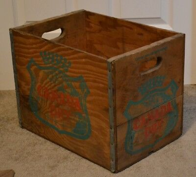 Vintage Canada Dry Soda Wooden Box Wood Ginger Ale Crate