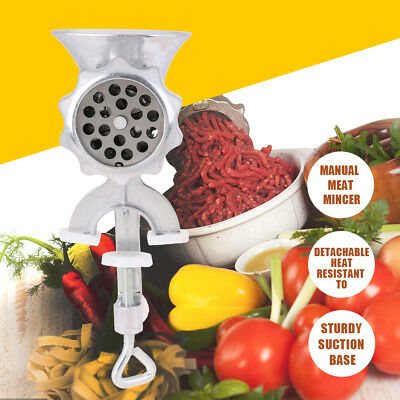 Meat Grinder Manual Stainless Steel Mincer Sausage Kebbe Maker Kitchen  Machine