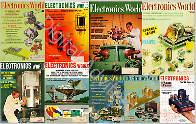 Electronics World Magazine Popular COMPLETE Collection 164 issues pdf CD DVD
