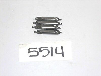 "5514) 4pcs. HSS. Comb.Drill/Countersink,#4, 60Deg.,Dbl.end,5/16""x1/8""x2-1/8"""