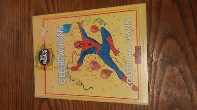 1984 The Electric Company Color and Learn Coloring Book SPIDERMAN Celebrations
