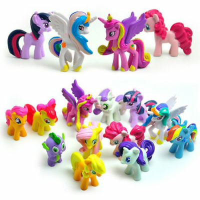 12pcs/Set Lot My Little Pony Friendship Is Magic Action Figure Rainbow Kid Toy